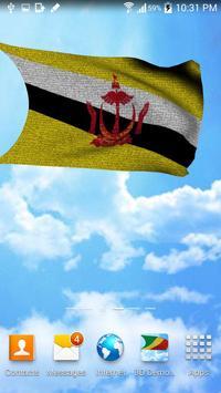 3D Brunei Flag Live Wallpaper screenshot 4