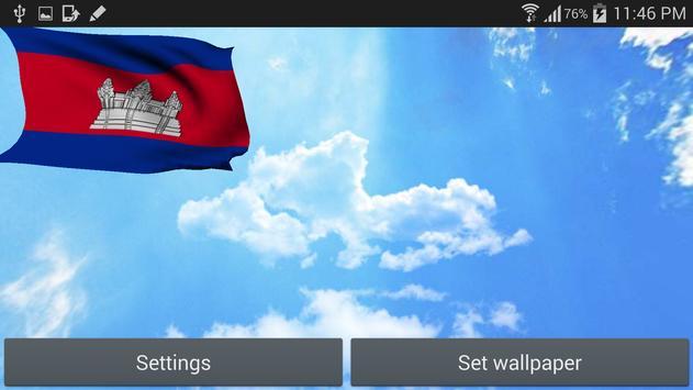 Cambodia Flag Live Wallpaper apk screenshot