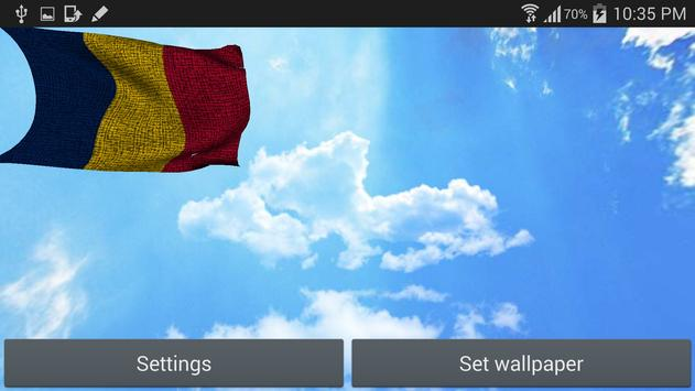 Chad Flag Live Wallpaper apk screenshot