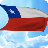 3D Chile Flag Live Wallpaper icon