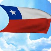 3D Chile Flag Live Wallpaper icon