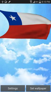 3D Chile Flag Live Wallpaper poster