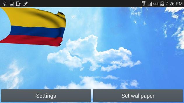 Colombia Flag Live Wallpaper screenshot 5