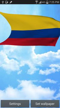 Colombia Flag Live Wallpaper poster