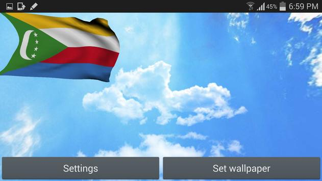 Comoros Flag Live Wallpaper apk screenshot