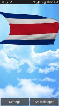 Costa Rica Flag Live Wallpaper poster