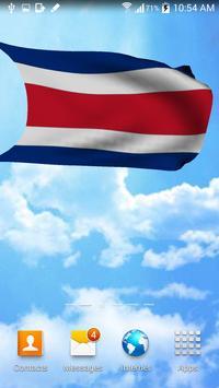 Costa Rica Flag Live Wallpaper apk screenshot