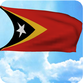 3D East Timor Flag Wallpaper icon