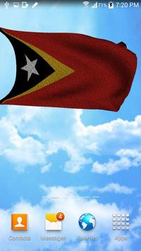 3D East Timor Flag Wallpaper screenshot 3