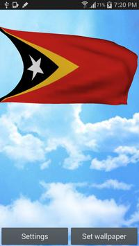 3D East Timor Flag Wallpaper poster
