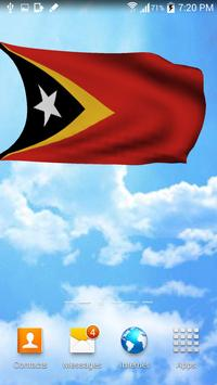 3D East Timor Flag Wallpaper screenshot 1