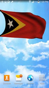 3D East Timor Flag Wallpaper screenshot 2