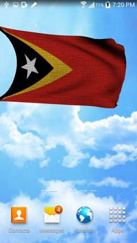 3D East Timor Flag Wallpaper screenshot 4