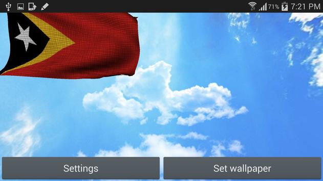 3D East Timor Flag Wallpaper screenshot 5