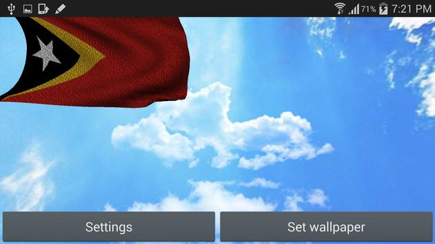 3D East Timor Flag Wallpaper screenshot 6