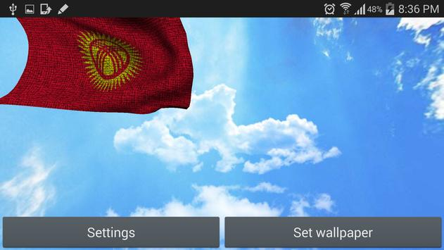 Kyrgyzstan Flag Live Wallpaper apk screenshot