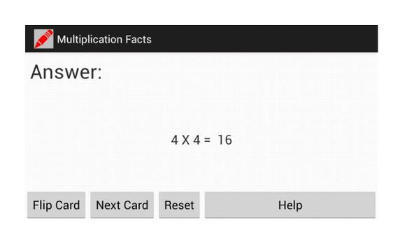 Multiplication Flash Cards screenshot 1