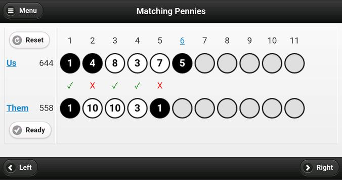 Matching Pennies apk screenshot
