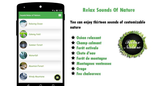 Sounds Relax of Nature apk screenshot