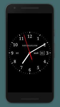 Аналоговые часы(живые обои) poster