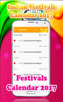 Indian Festivals Calendar 2017 screenshot 2
