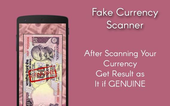 Fake Currency Scanner apk screenshot