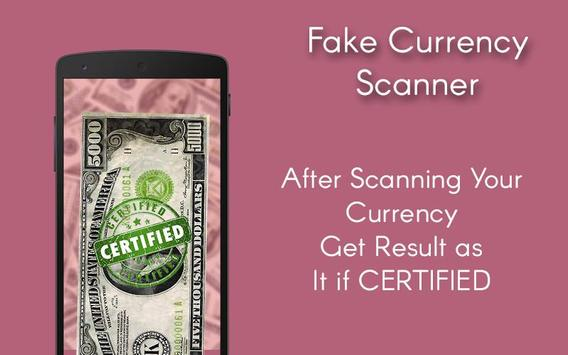 Fake Currency Scanner apk screenshot
