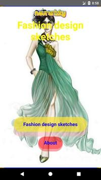 Fashion design sketches poster