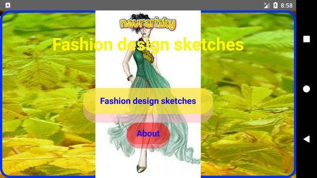Fashion design sketches screenshot 1
