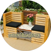 Design of pallet furniture icon