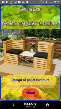 Design of pallet furniture poster