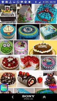 Creative cake tart characters poster