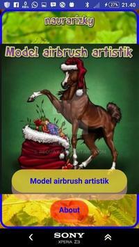 Airbrush artistic design poster