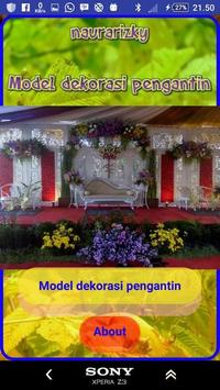 Model of bridal decoration poster
