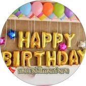 Model of child's birthday decoration icon