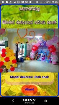 Model of child's birthday decoration poster