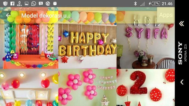 Model of child's birthday decoration apk screenshot