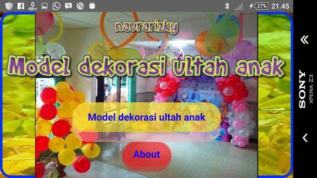 Model of child's birthday decoration screenshot 1