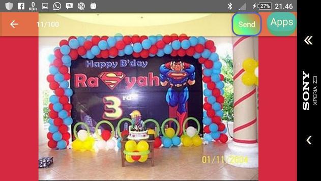 Model of child's birthday decoration screenshot 5