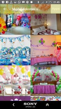 Model of child's birthday decoration screenshot 9