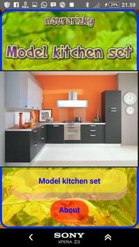Model kitchen set poster