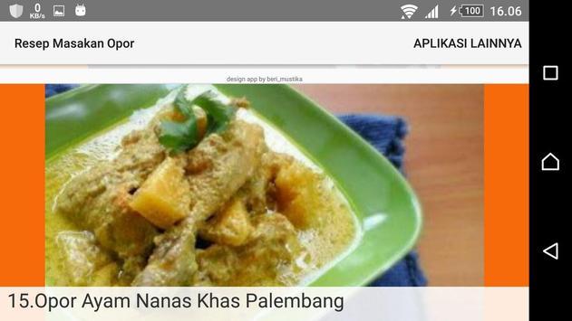 Resep Masakan Opor screenshot 3