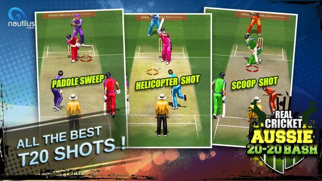 Real Cricket ™ Aussie 20 Bash स्क्रीनशॉट 1