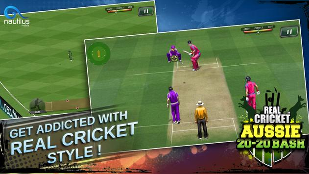Real Cricket ™ Aussie 20 Bash स्क्रीनशॉट 3