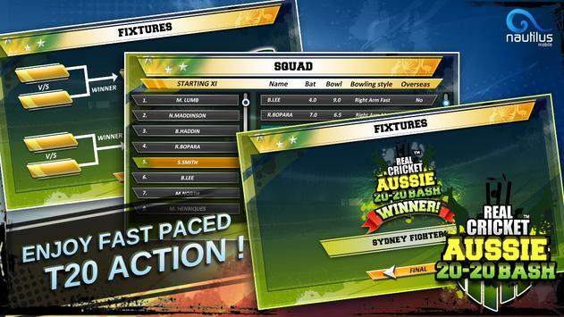 Real Cricket ™ Aussie 20 Bash स्क्रीनशॉट 5