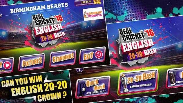 Real Cricket™ 16: English Bash स्क्रीनशॉट 9