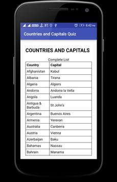 Countries and Capitals Quiz screenshot 6