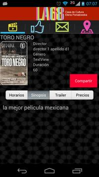 Menú Cinemas apk screenshot