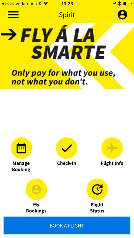 spirit airlines app android