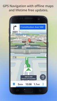 Автономные карты и система навигации постер